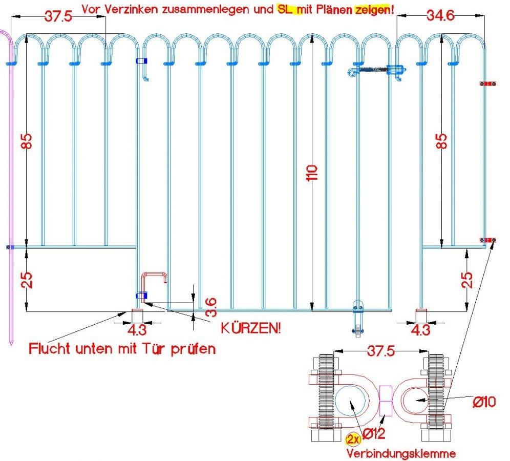 Poolfix-Sonderelemente zur Überbrückung von einem Mauersockel