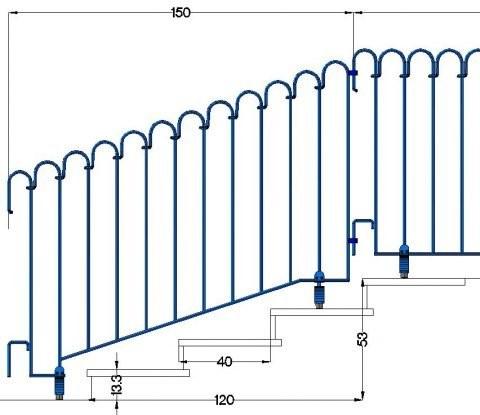 Poolfix-Sonderelement mit schrägem Untergurt zum Überbrücken einer Treppe